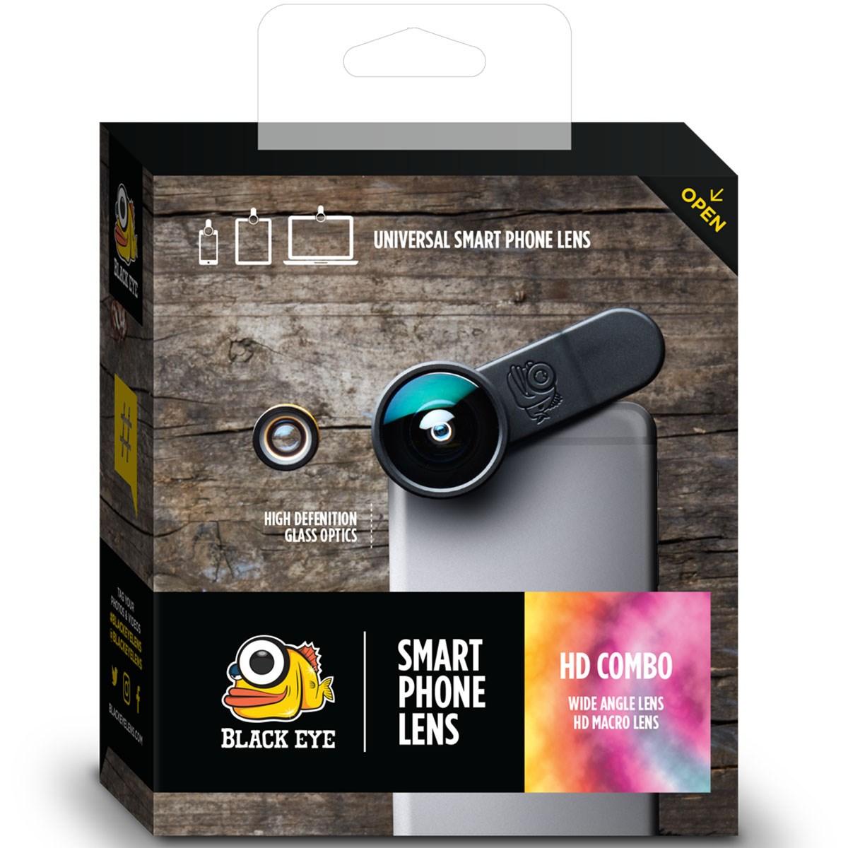 ブラックアイ クリップ式レンズ HDコンボ(広角 接写)