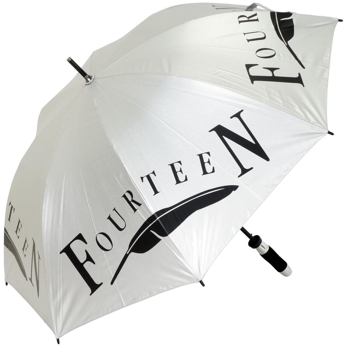 フォーティーン FOURTEEN 晴雨兼用 傘 シルバー