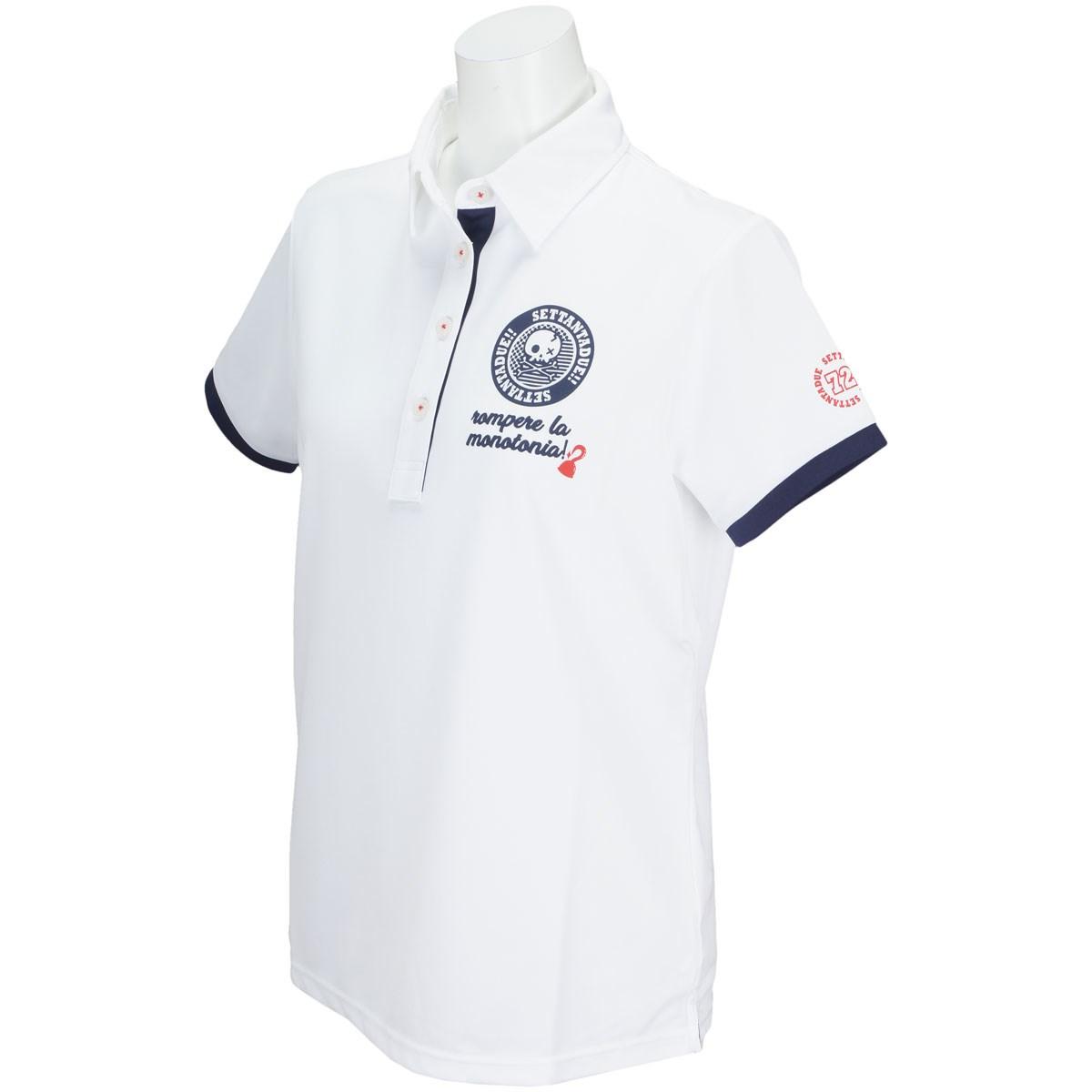 PAR72 パー72 半袖ポロシャツ S ホワイト レディス
