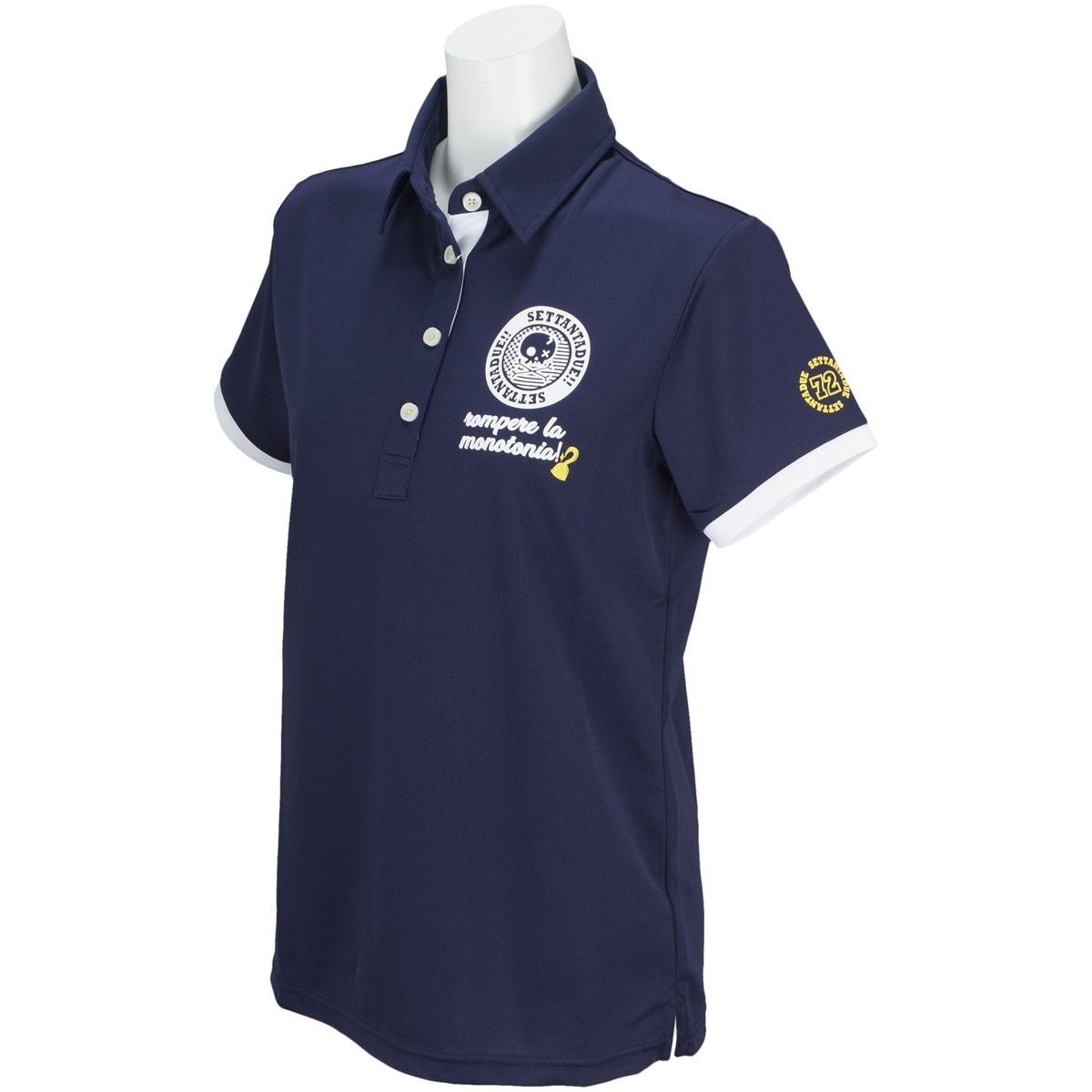 PAR72 パー72 半袖ポロシャツ S ネイビー レディス