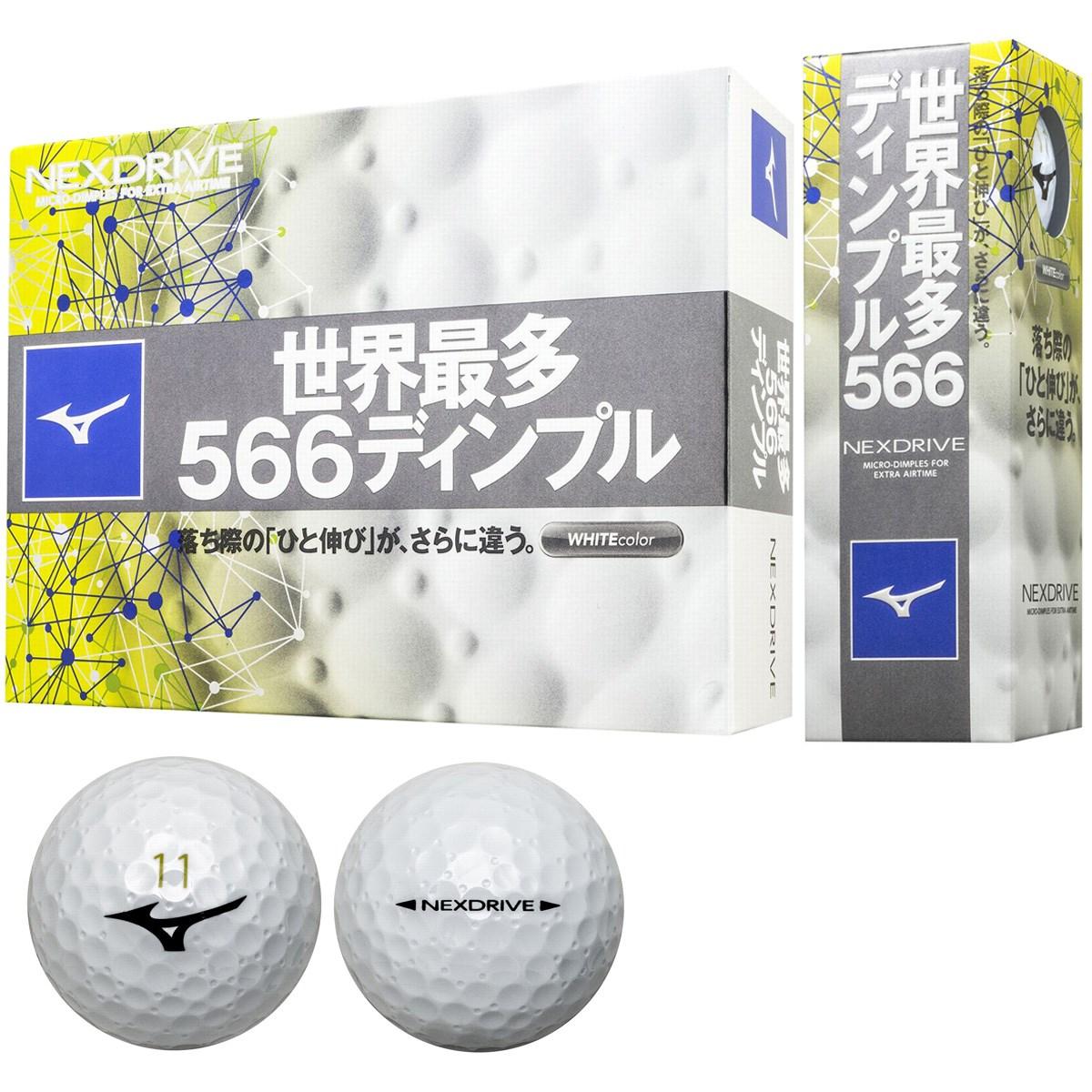 ミズノ MIZUNO ネクスドライブ ボール 1ダース(12個入り) ホワイト