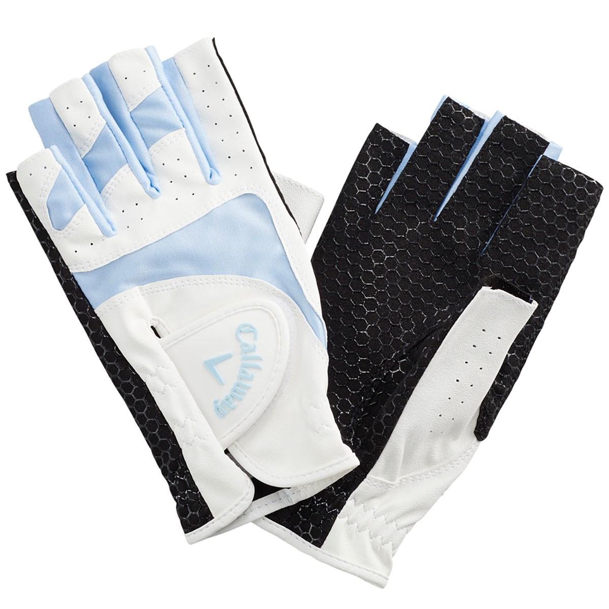 キャロウェイゴルフ Callaway Golf CPG Sport Dual OF パークゴルフ用 指先ショートタイプ グローブ 両手用 M ブルー レディス
