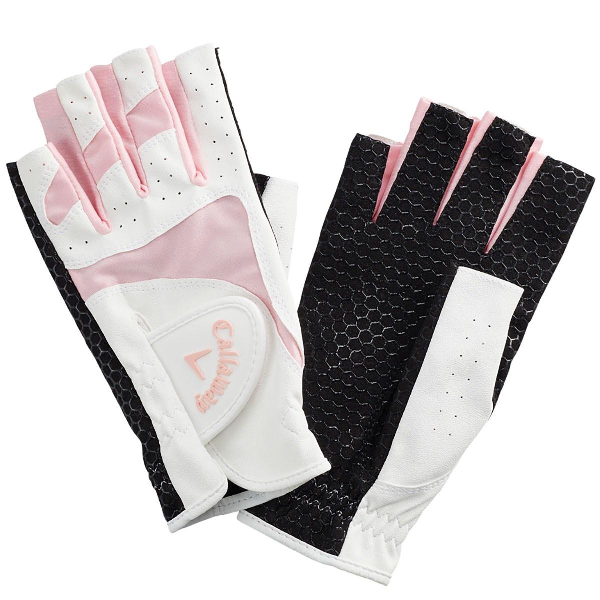 キャロウェイゴルフ Callaway Golf CPG Sport Dual OF パークゴルフ用 指先ショートタイプ グローブ 両手用 L ピンク レディス
