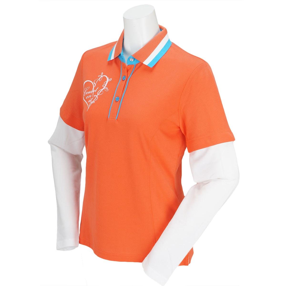 アバカス ABACUS 長袖ポロシャツ S オレンジ レディス