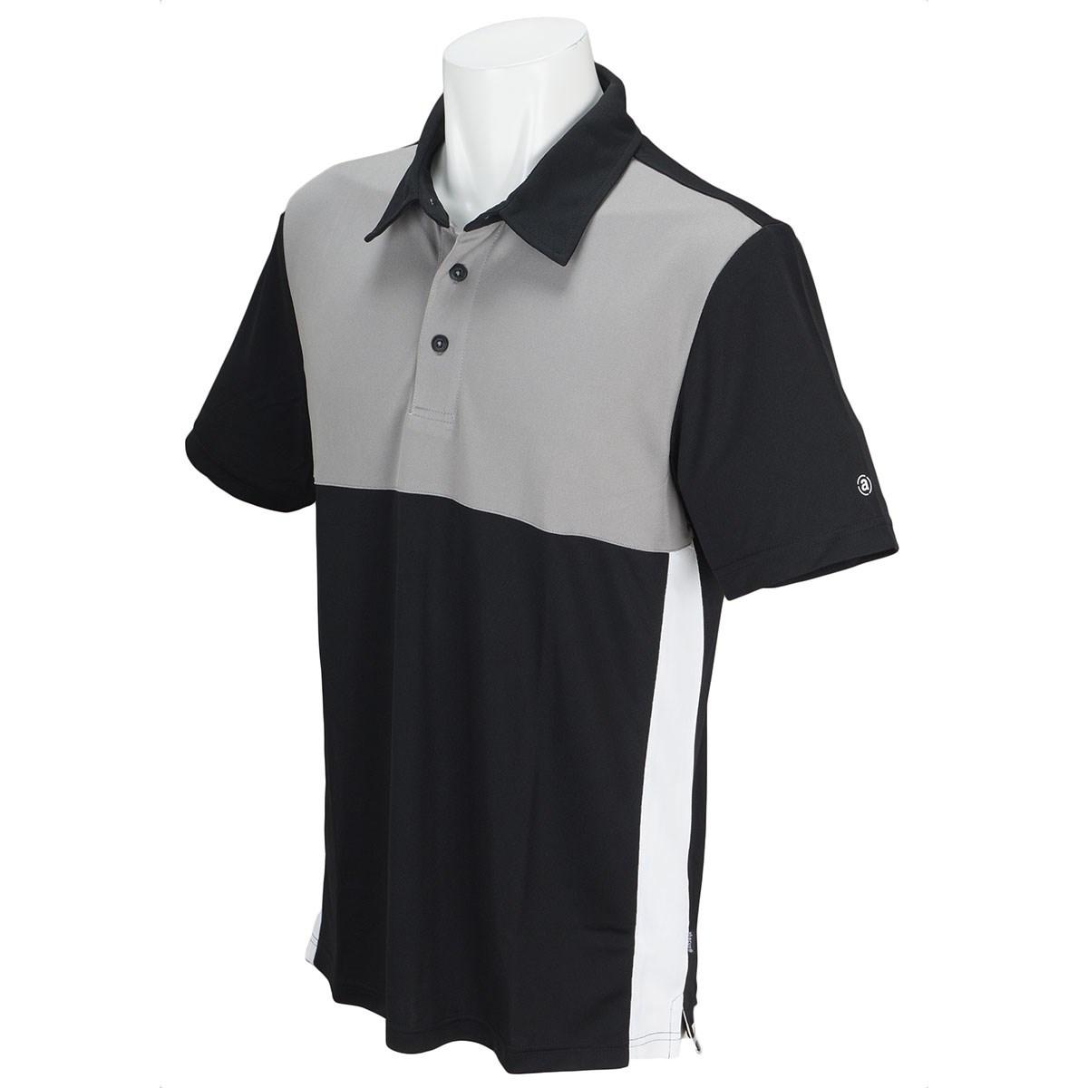 アバカス ABACUS 半袖ポロシャツ S ブラック/グレー