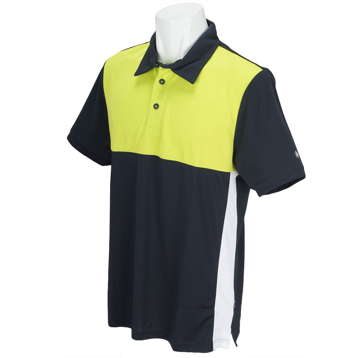 アバカス ABACUS 半袖ポロシャツ M ネイビー/グラスホッパー
