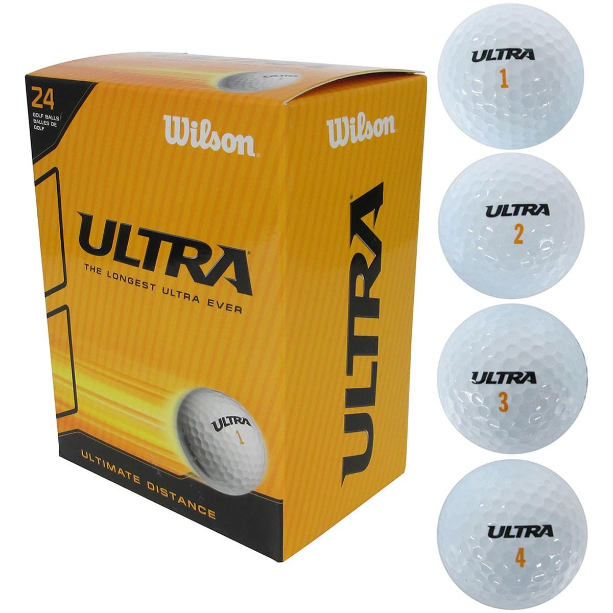 ウイルソン Wilson ULTRA ゴルフボール 24個入り 24個入り ホワイト