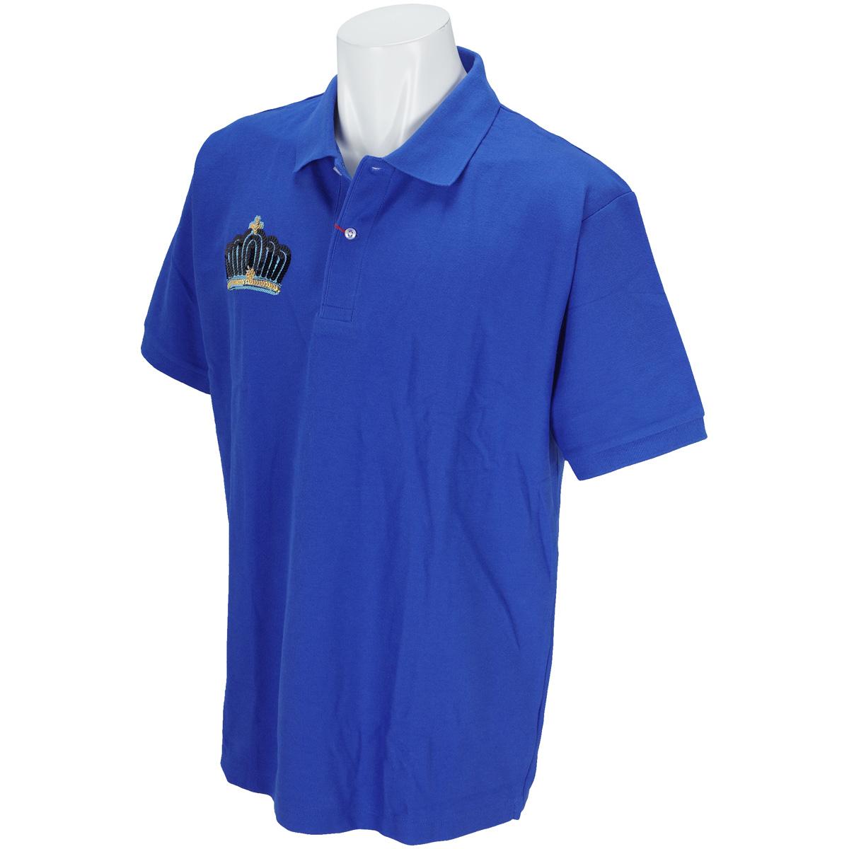 【GDO限定】王冠スパンコール刺繍 半袖ポロシャツ