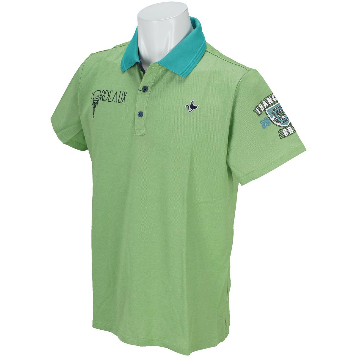 ボルドーアイコン半袖ポロシャツ