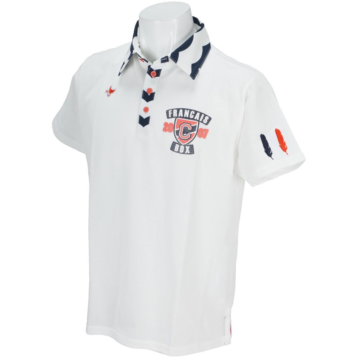 エンブレム半袖ポロシャツ
