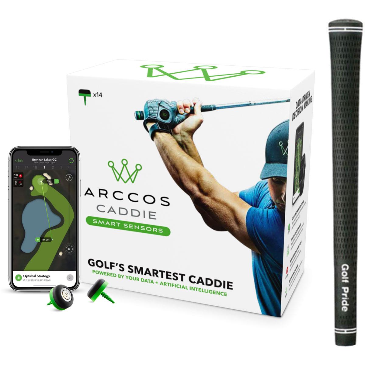 Arccos Caddie Smart Sensors &ツアーベルベット ラバー グリップ 10本セット