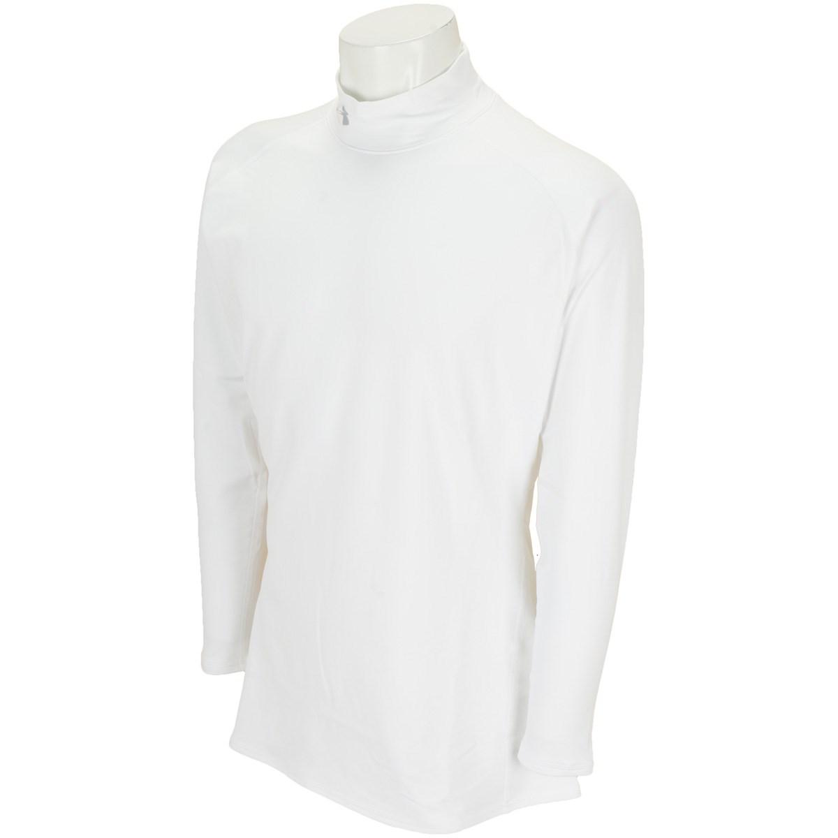 アンダーアーマー Under Armour UA コールドギア Fitted Mock 長袖インナーシャツ XL WHITE/OVERCAST GRAY
