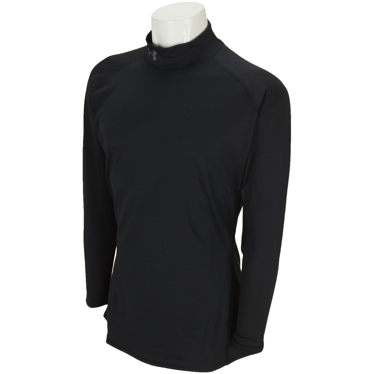 アンダーアーマー Under Armour UA コールドギア Fitted Mock 長袖インナーシャツ SM BLACK/RHINO GRAY