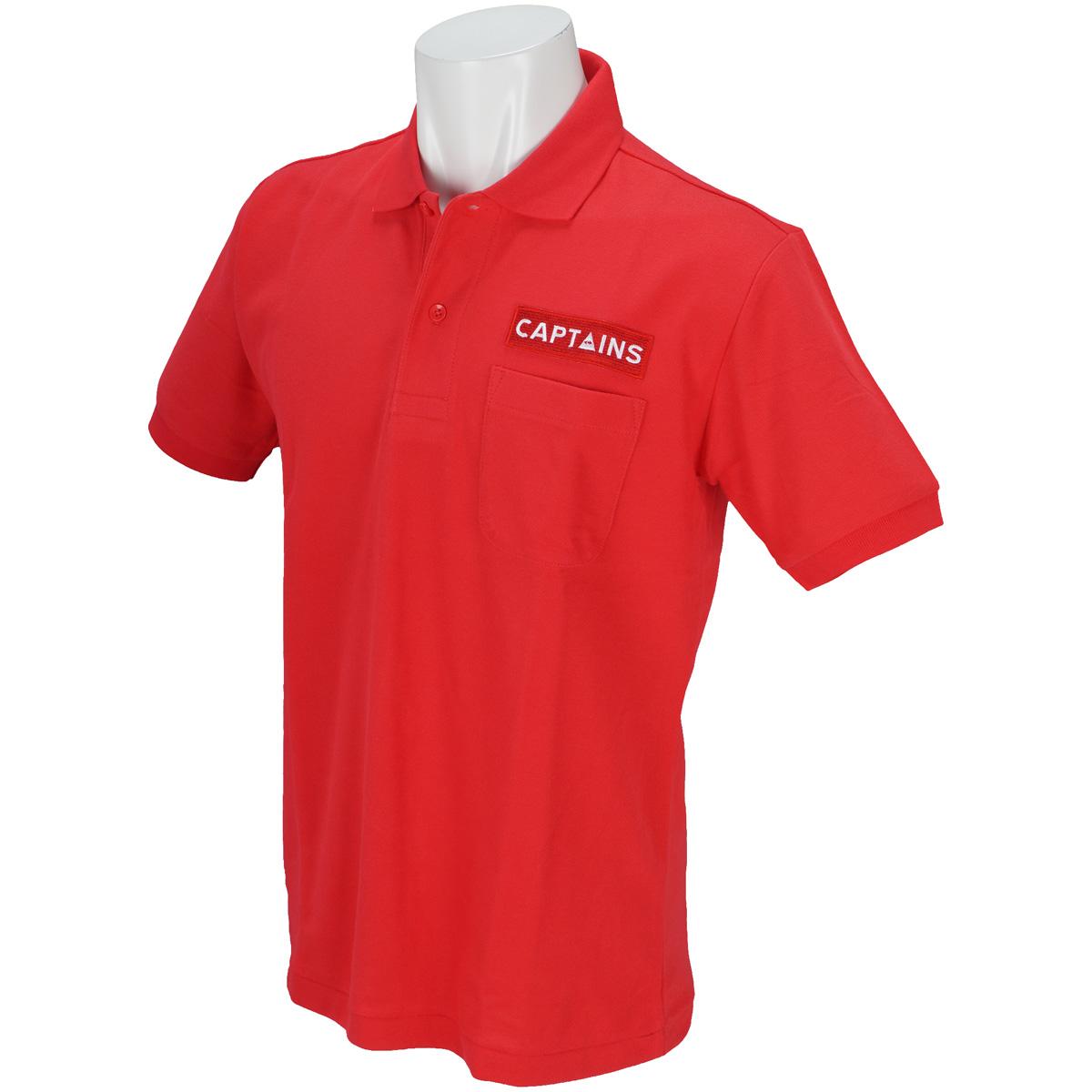 ロゴワッペン半袖ポロシャツ