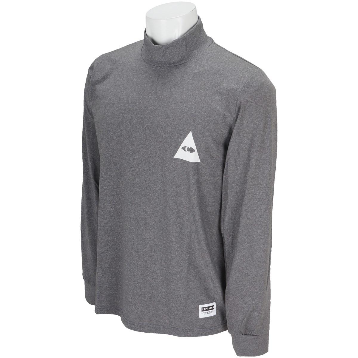 キャプテンズヘルム CAPTAINS HELM モックネック長袖Tシャツ XL ブラック