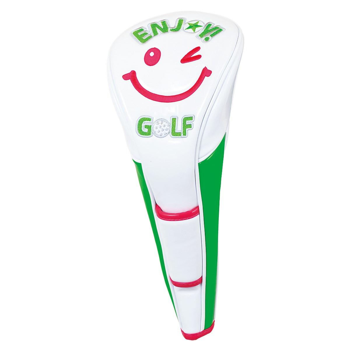 [アウトレット] [在庫限りのお買い得商品] WINWIN STYLE ENJOY GOLF ヘッドカバー DR用 ホワイト ゴルフ