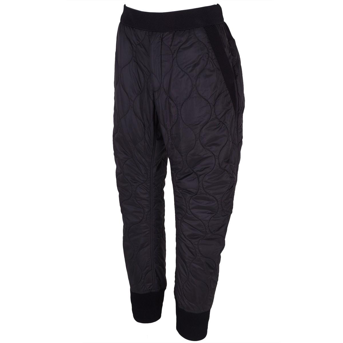 ナンバーエム NUMBER M キルティング 裾リブ パンツ 46 ブラック