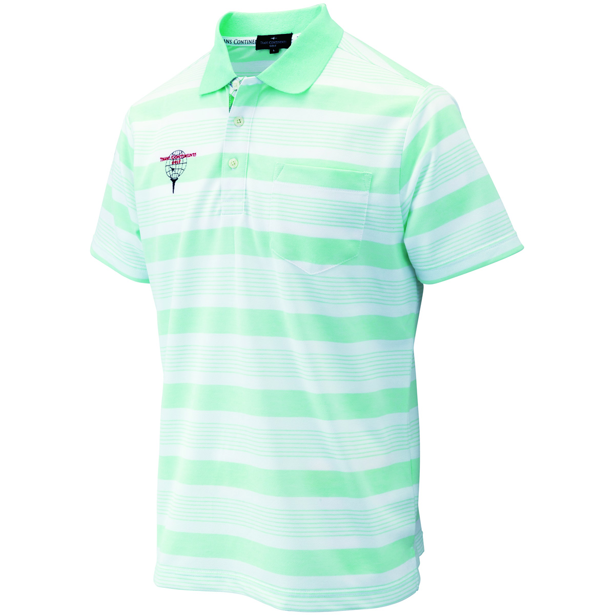 デオセルドライ ボーダー柄半袖ポロシャツ