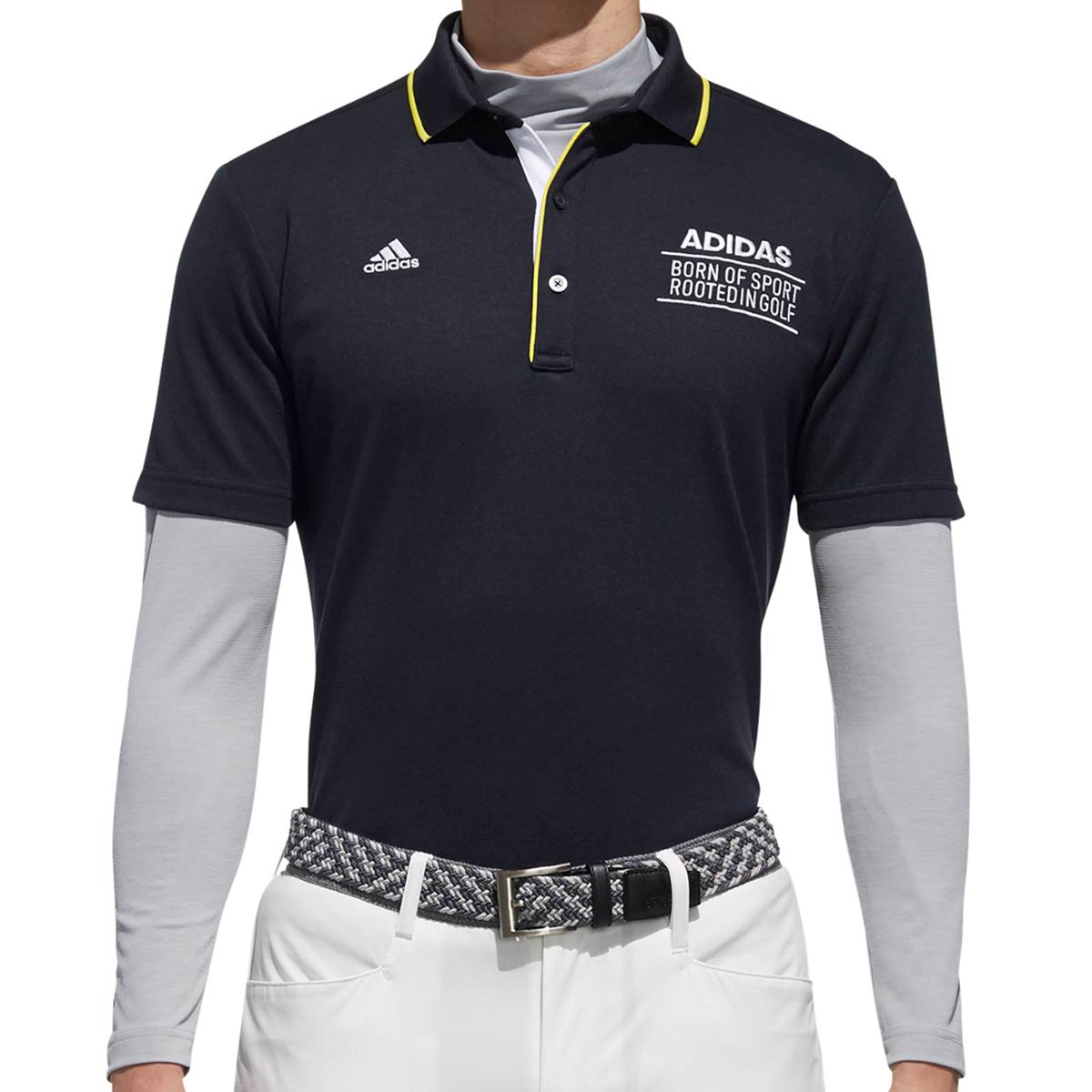 adicross 3ストライプ レイヤード半袖ポロシャツ