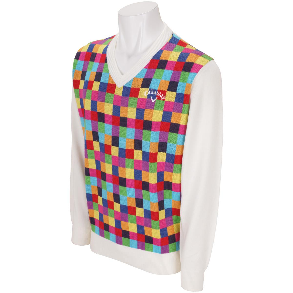 モザイクVネックセーター