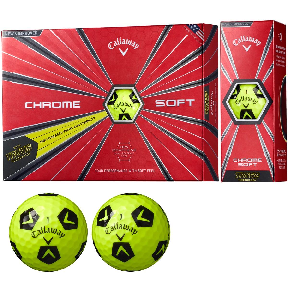 キャロウェイゴルフ(Callaway Golf) CHROME SOFT TRUVIS ボール【イエロー/ブラック】