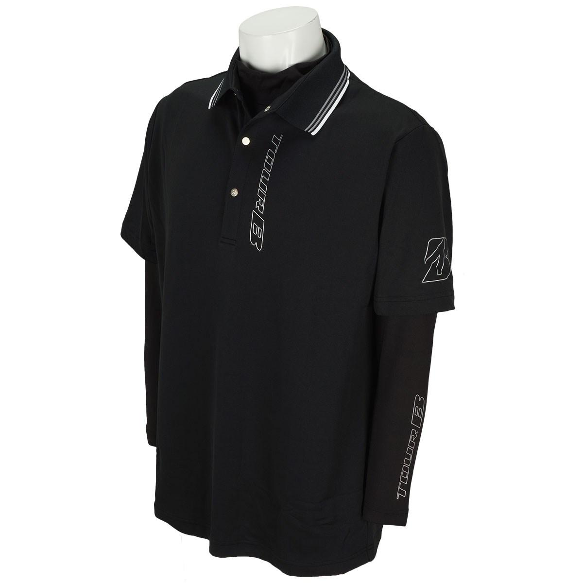 ブリヂストン(BRIDGESTONE GOLF) 長袖アンダーポロシャツ付き半袖ポロシャツ
