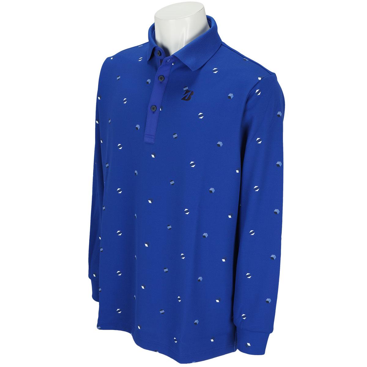 長袖台付きポロシャツ
