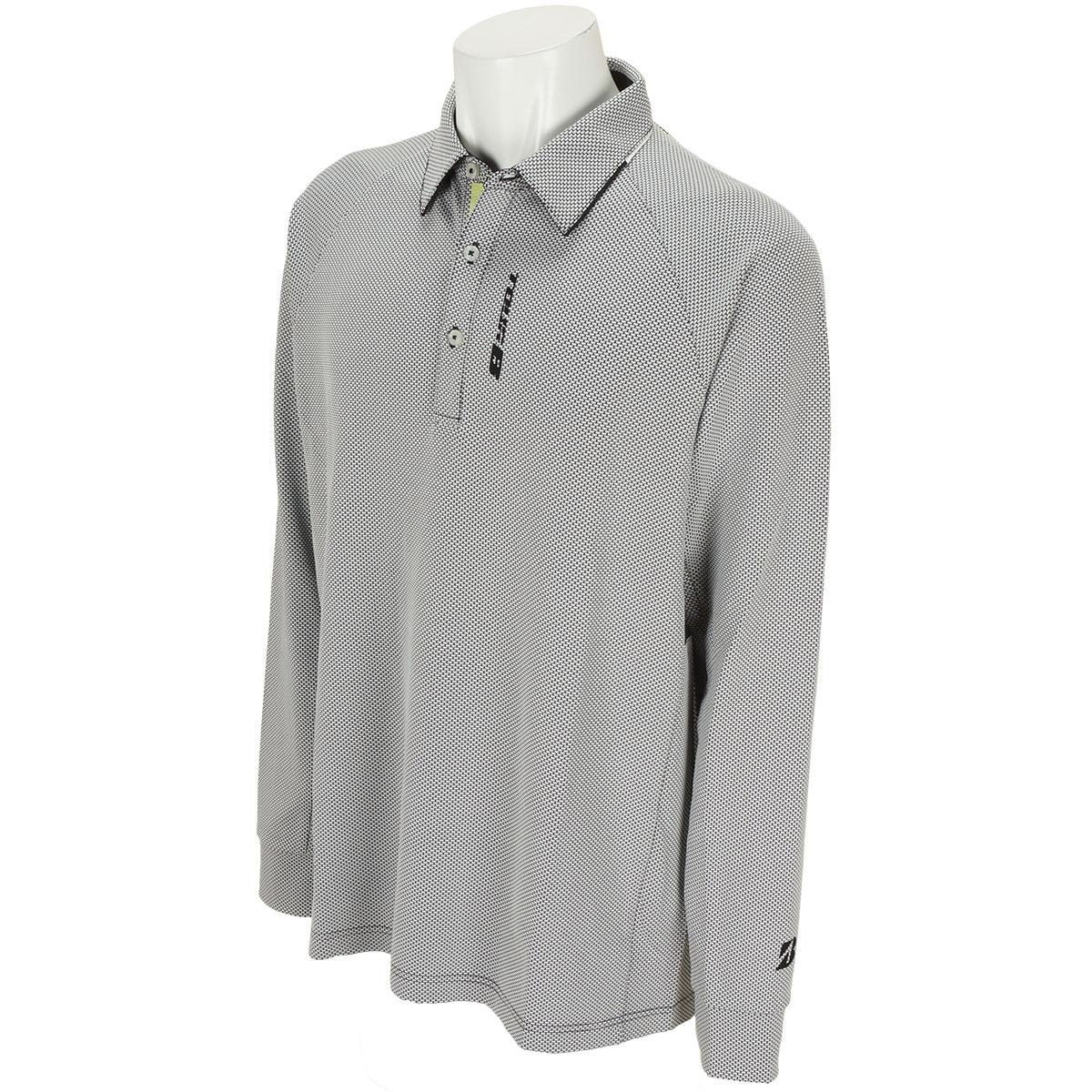 長袖台付き共衿ポロシャツ
