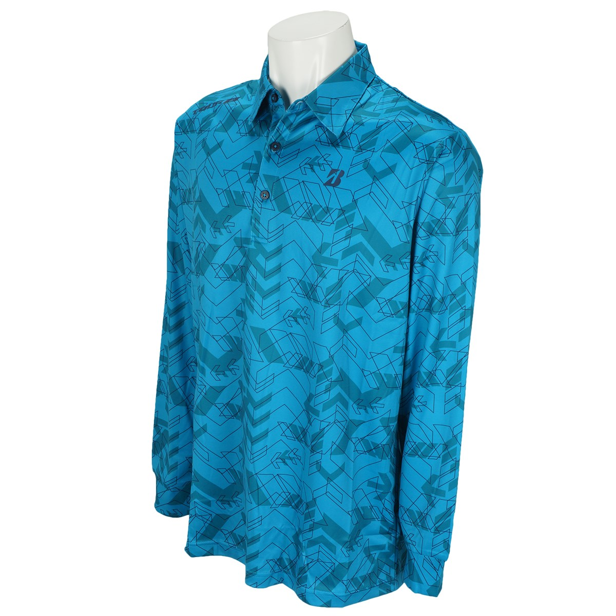 ブリヂストン(BRIDGESTONE GOLF) 長袖台付き共衿ポロシャツ