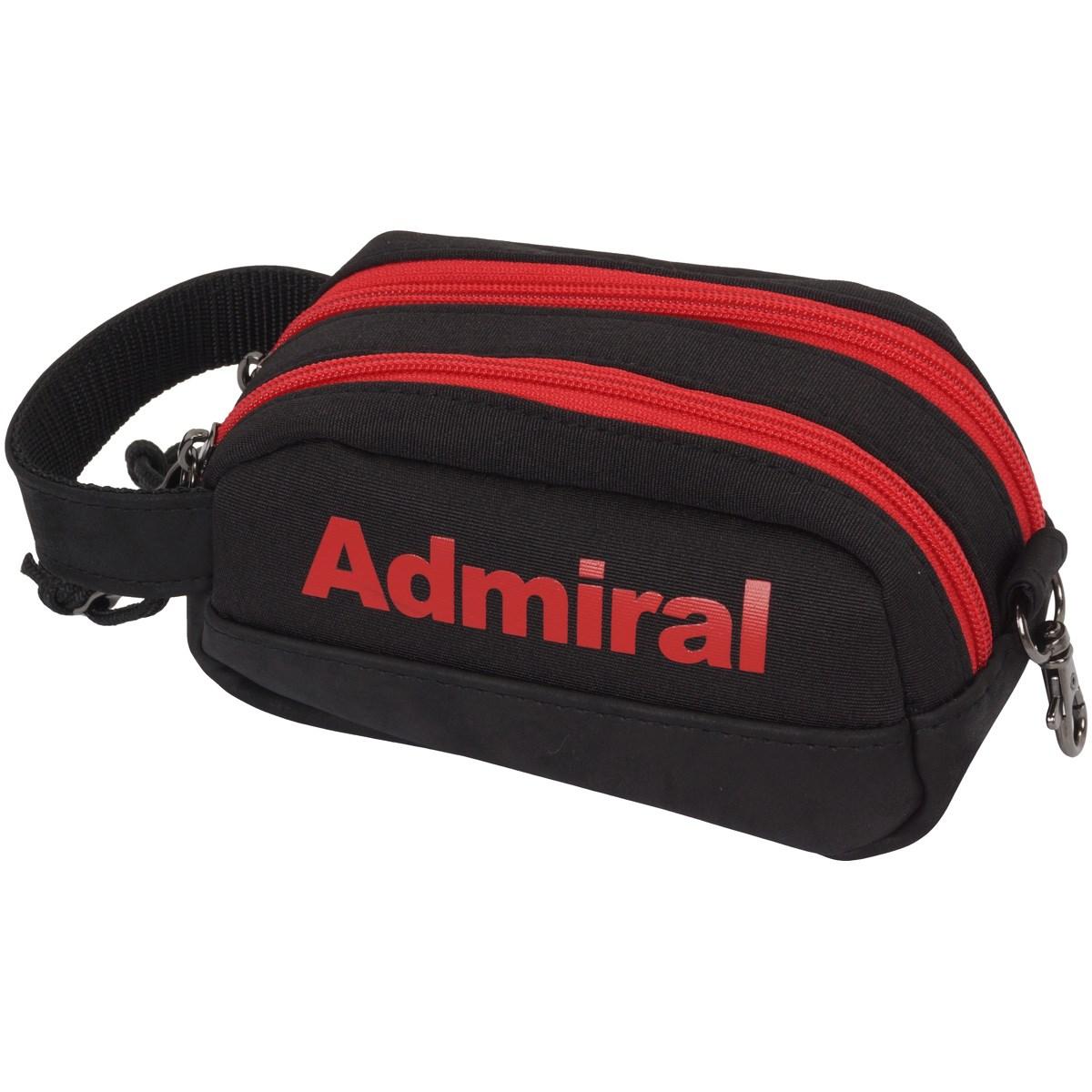 [2018年モデル] アドミラル Admiral スタイリッシュ ファブリック ポーチ ブラック メンズ ゴルフ