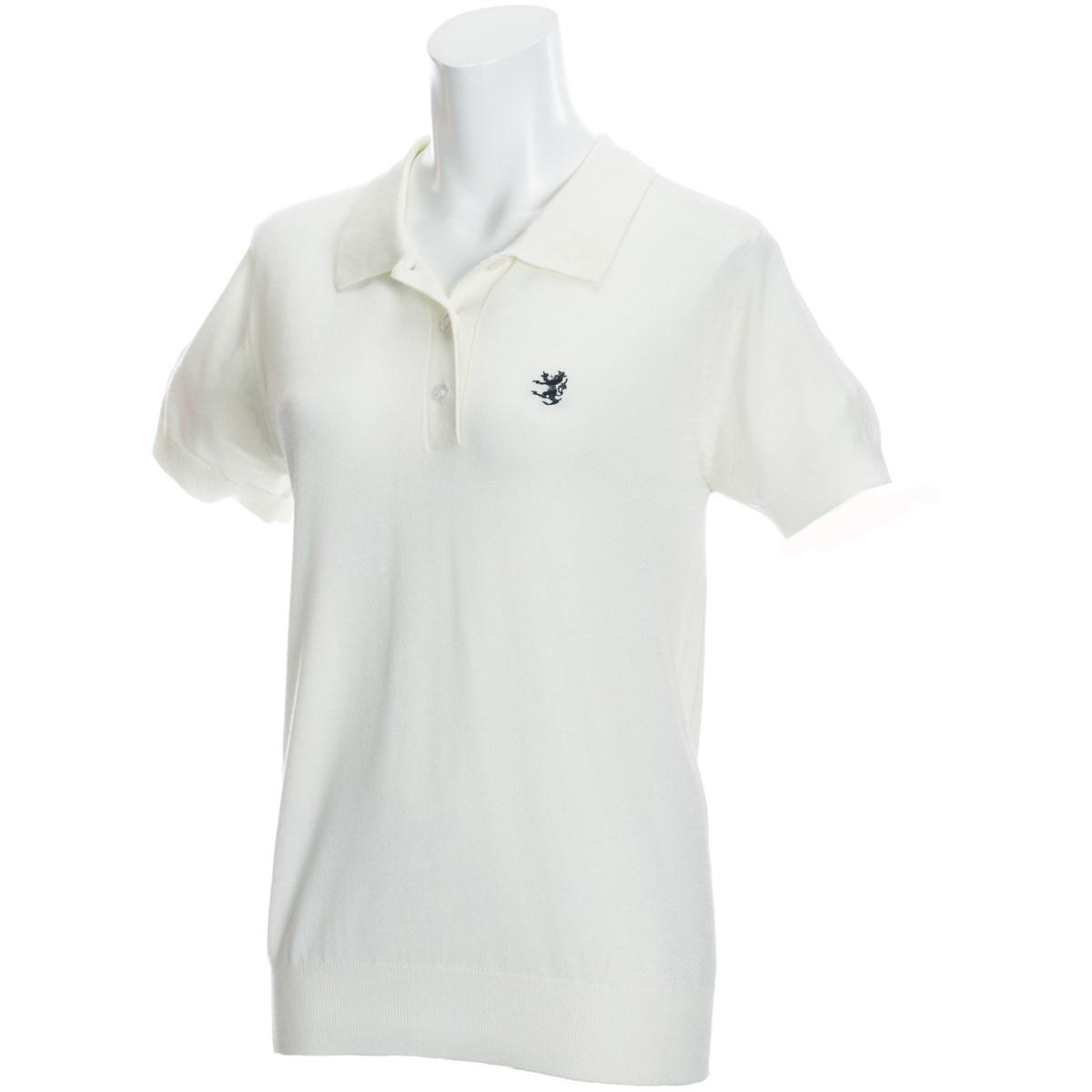 アドミラル Admiral ニット 半袖ポロシャツ S ホワイト 00 レディス