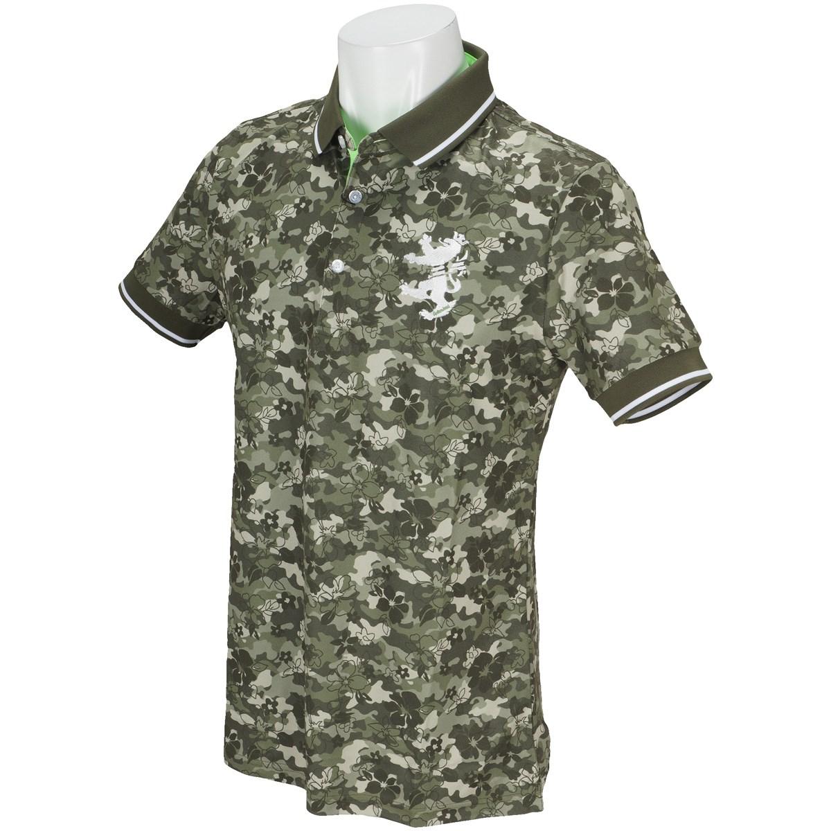 アドミラル カモリーフ  半袖ポロシャツ