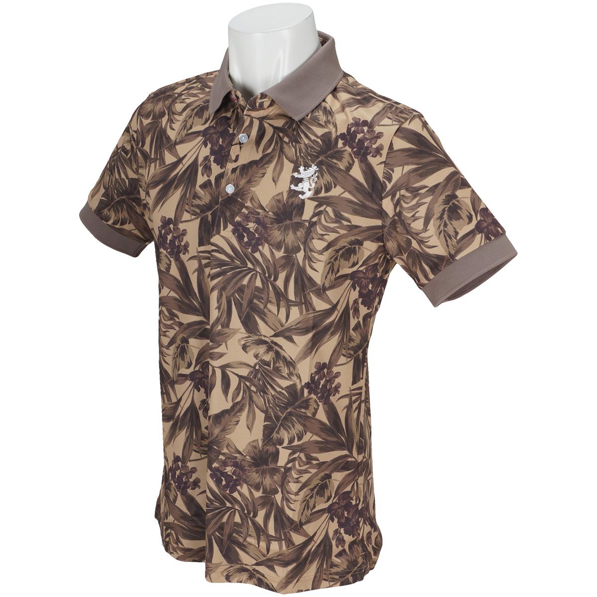ボタニカル  半袖ポロシャツ