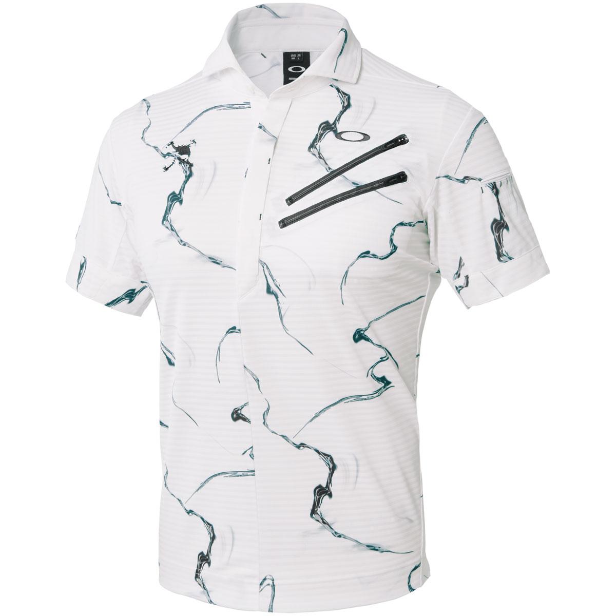 スカル WHIRLWIND CLAW ジップ 半袖ポロシャツ