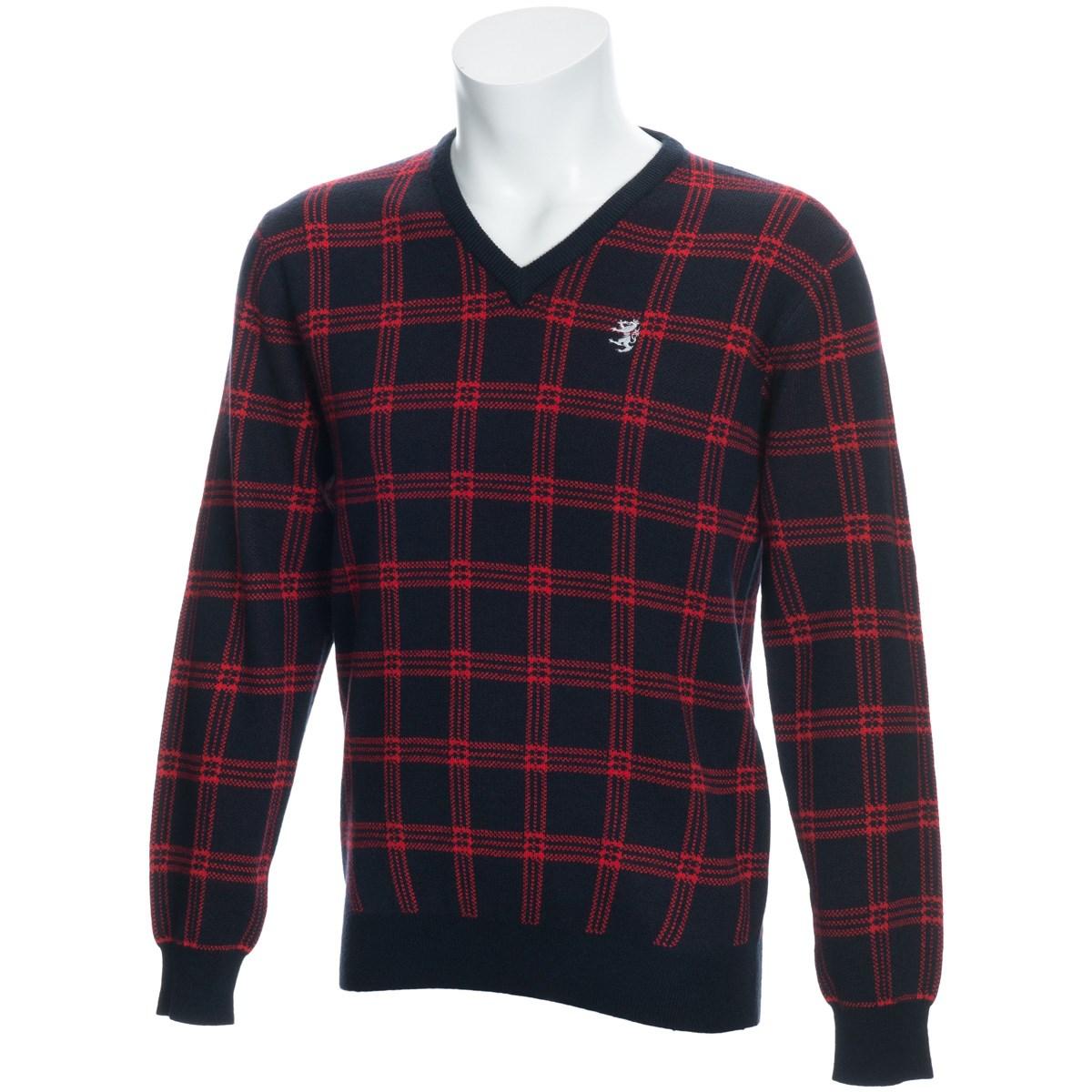 アドミラル チェック Vネックセーター