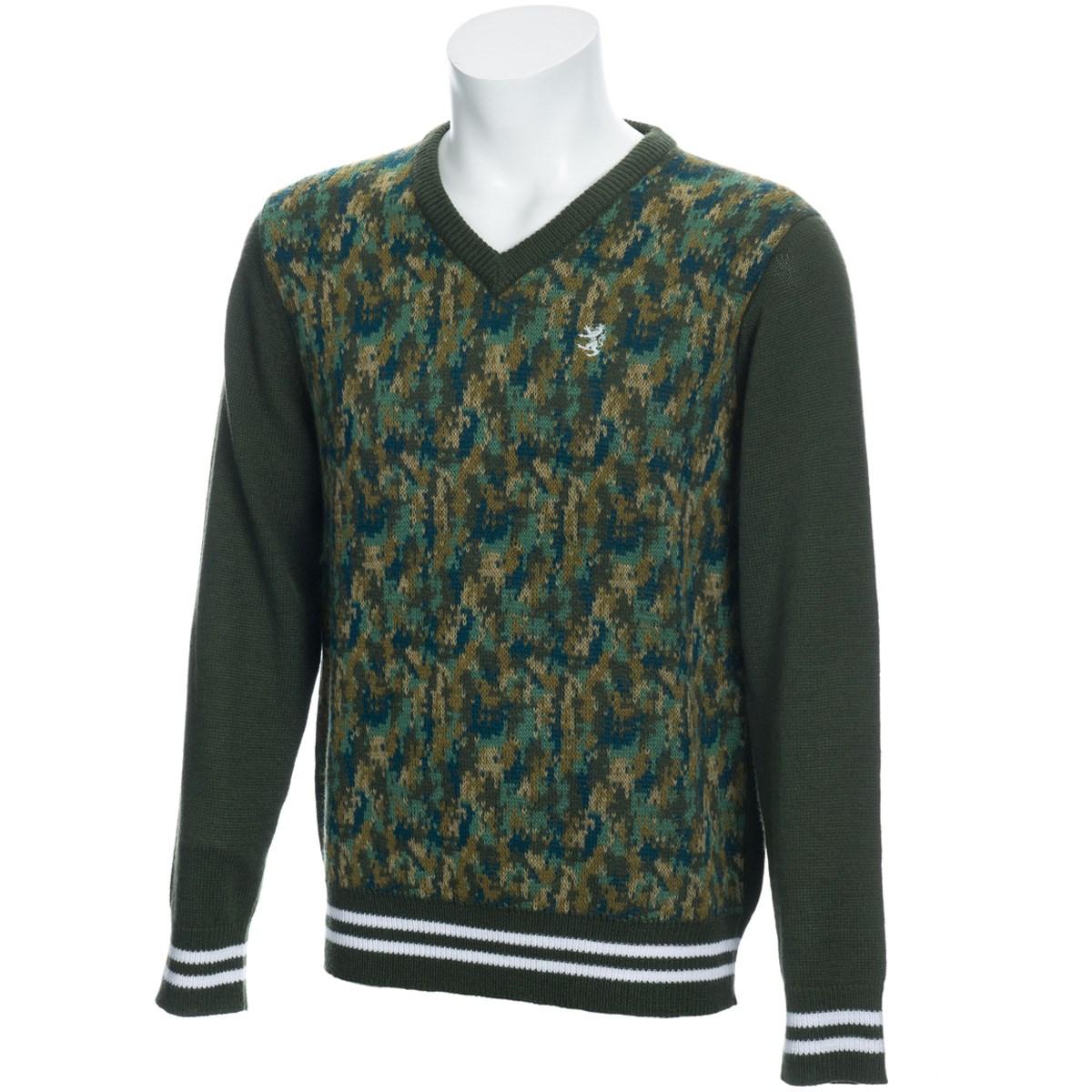 アドミラル デジタルカモ Vネックセーター
