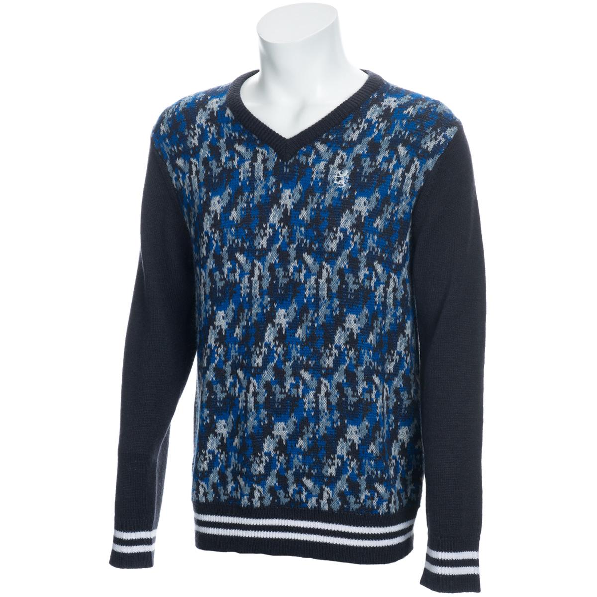 デジタルカモ Vネックセーター