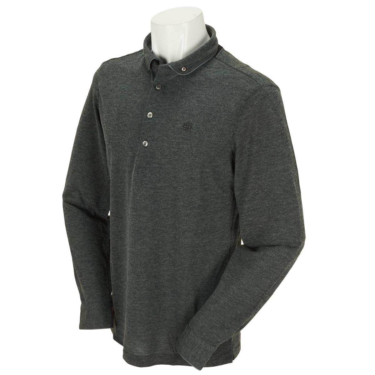 BlackLabel COOL MAX鹿の子長袖ポロシャツ