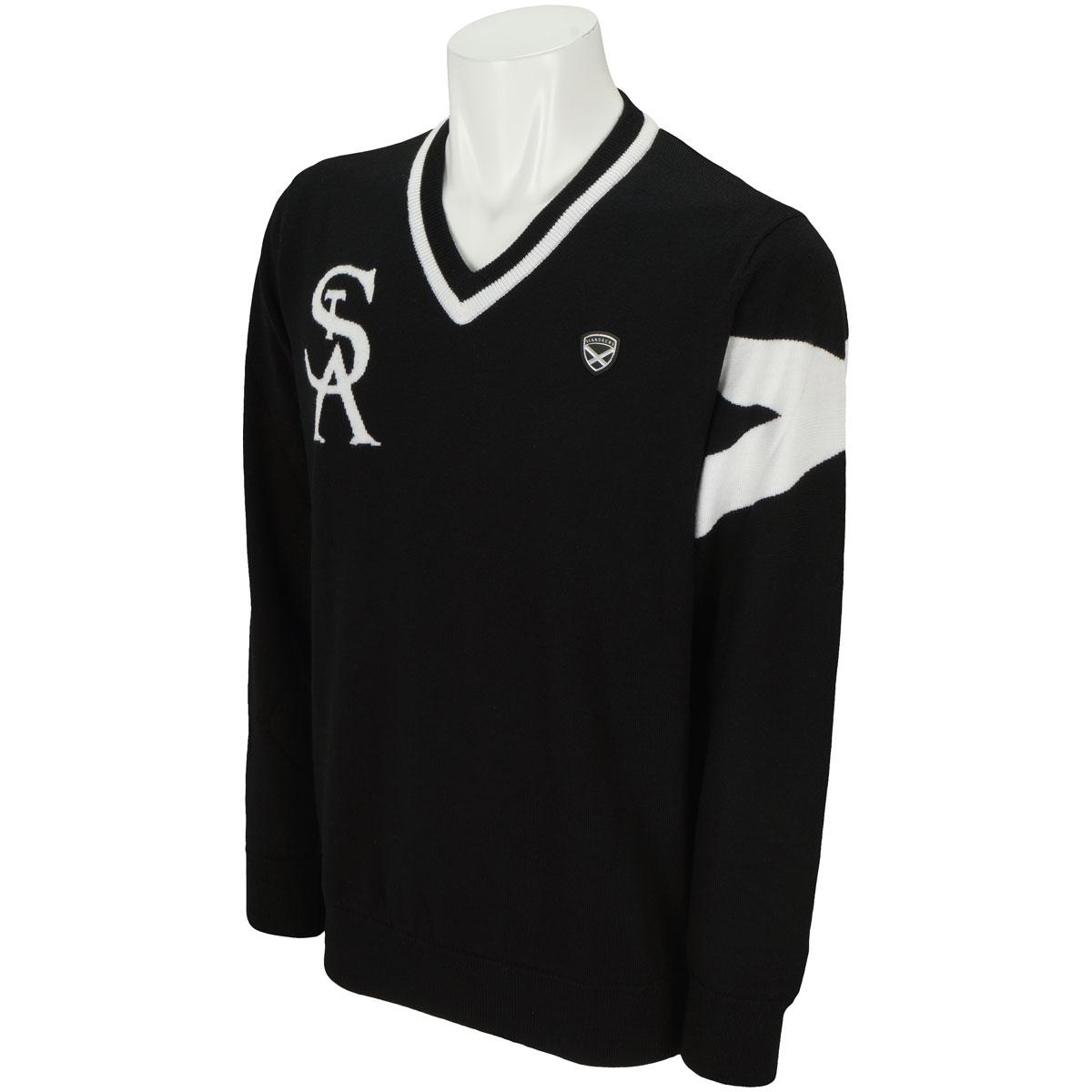 WhiteLabel インターシャVネックセーター