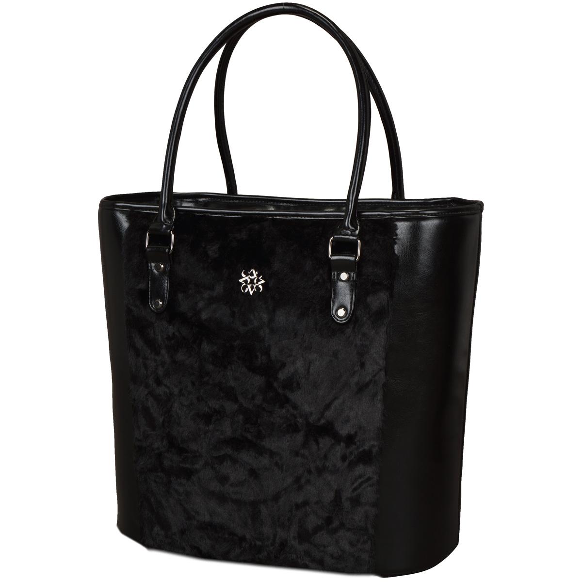BlackLabel チャーム付きボアカートバッグ