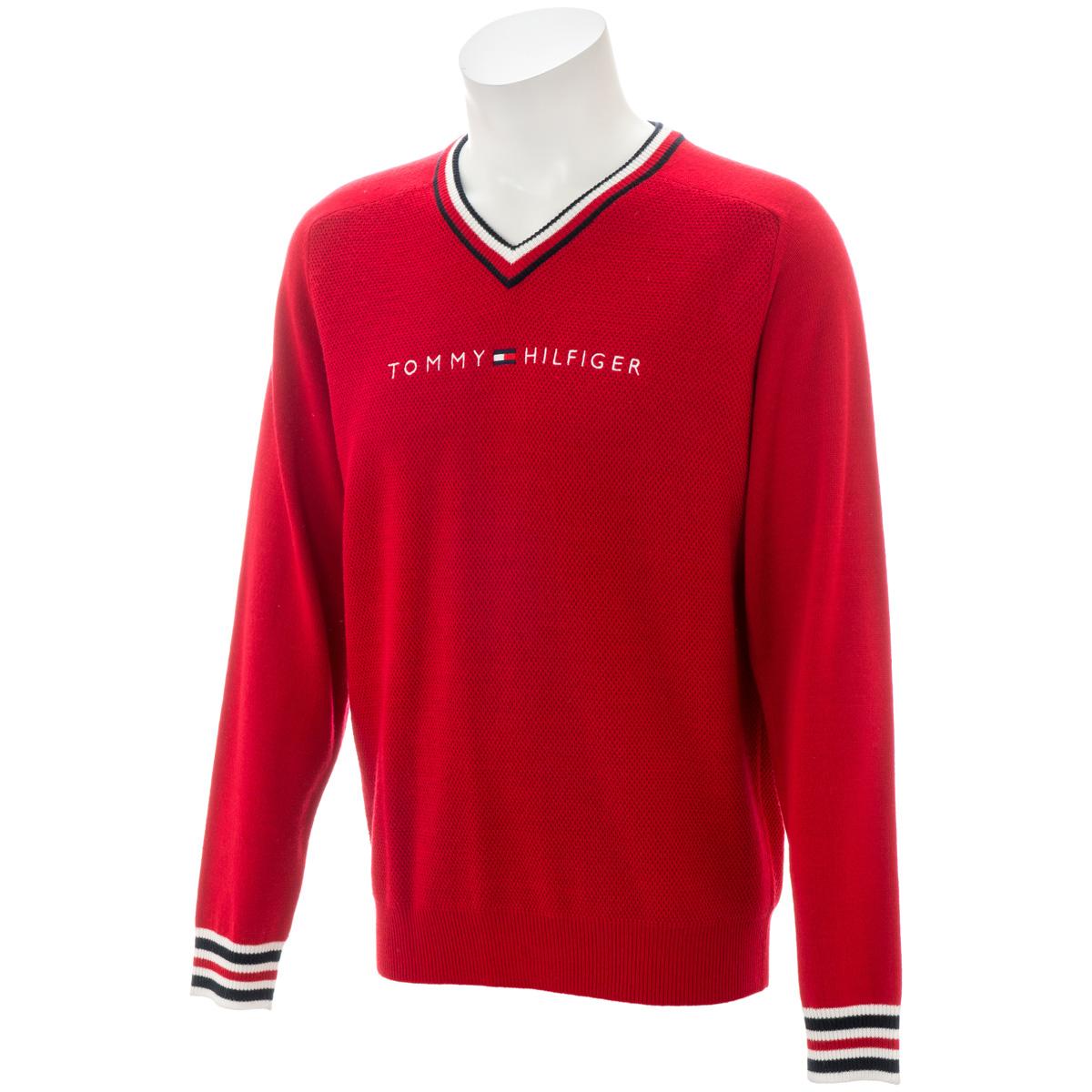 TH ロゴ Vネックセーター