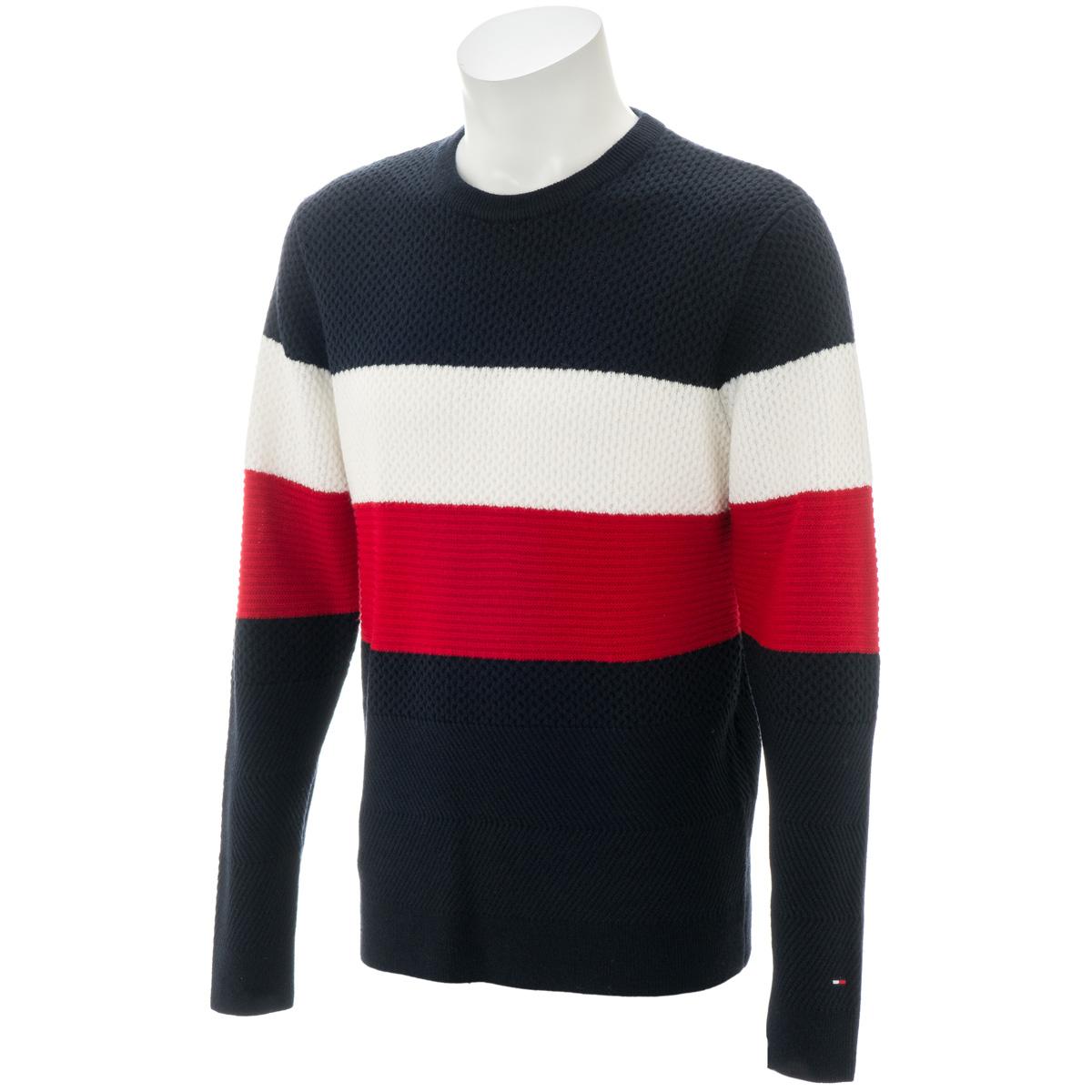 クルーネック カラーブロック セーター