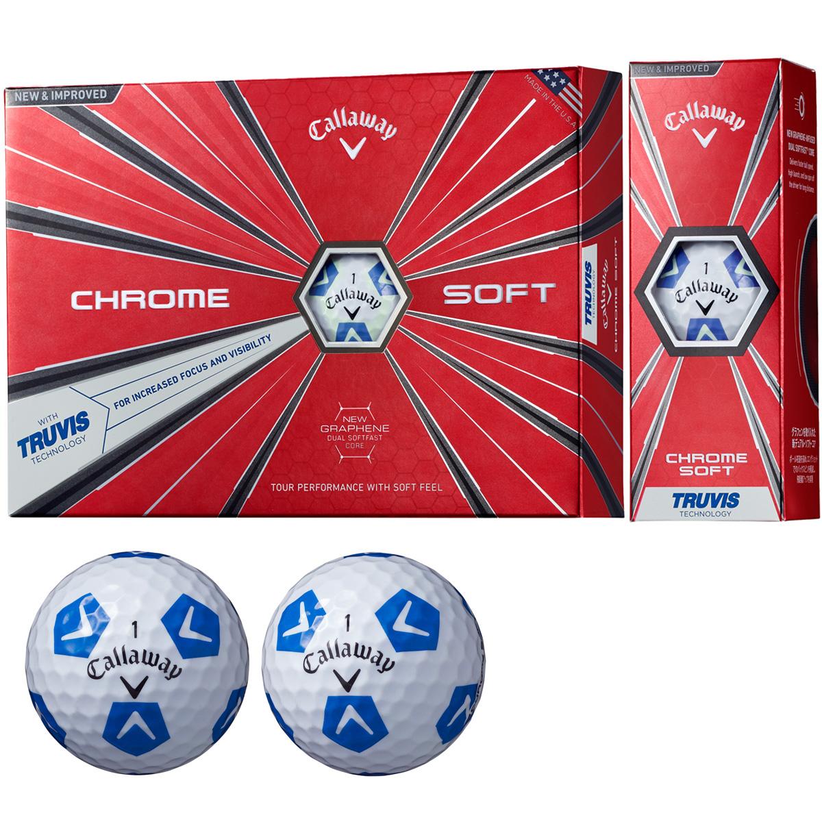 CHROME SOFT TRUVIS ボール【ホワイト/ブルー】