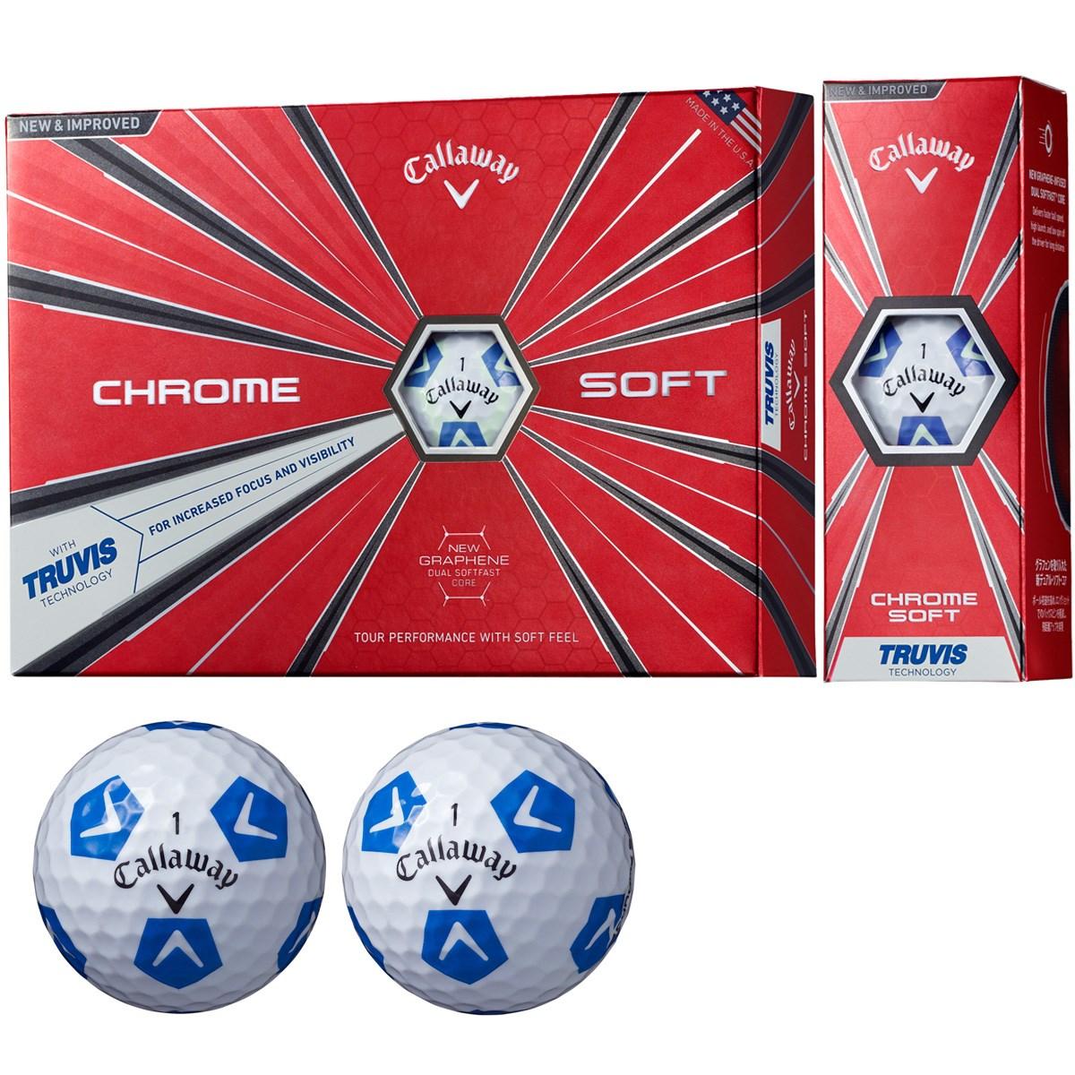 キャロウェイゴルフ CHROM SOFT CHROME SOFT TRUVIS ボール【ホワイト/ブルー】 1ダース(12個入り) ホワイト/ブルー