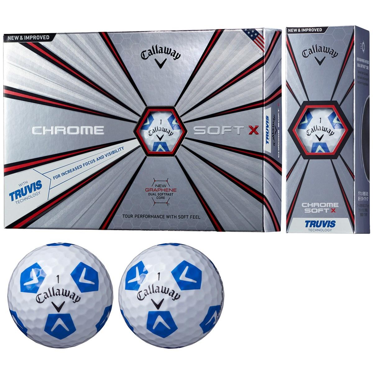 CHROME SOFT X TRUVIS ボール【ホワイト/ブルー】