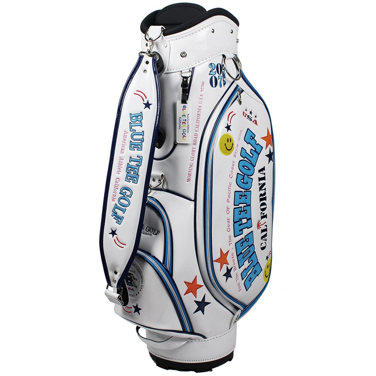 ブルーティーゴルフ BLUE TEE GOLF エナメル キャディバッグ ホワイト