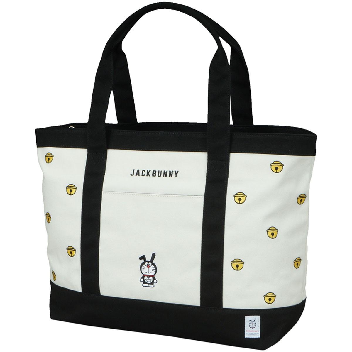 [2018年モデル] ジャックバニー ドラえもん総柄刺繍 鈴 トートバッグ ホワイト 030 メンズ ゴルフ