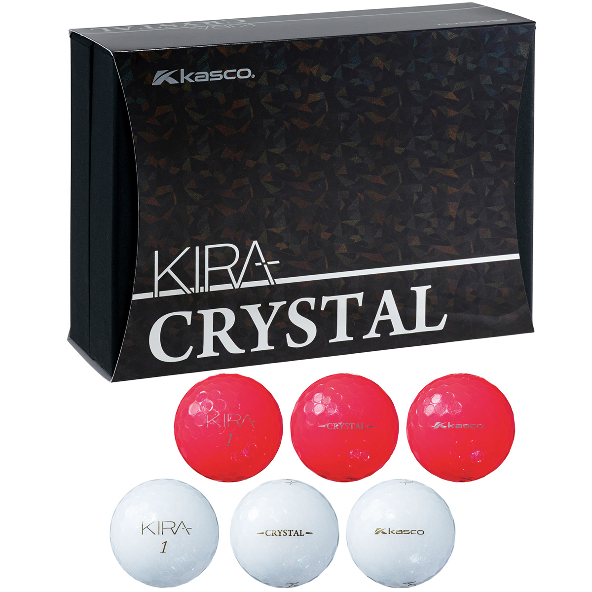KIRA CRYSTAL 紅白ギフト ボール 6個入り