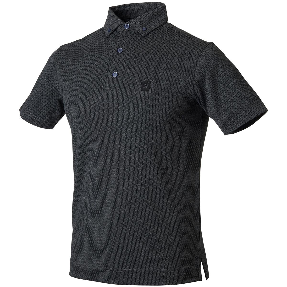 ジオメトリック半袖ポロシャツ