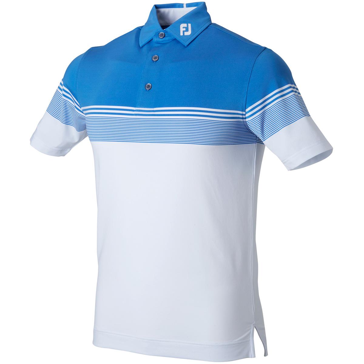 カラーブロックライル半袖ポロシャツ